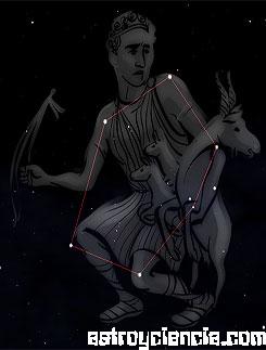 Figura de la constelación del Cochero