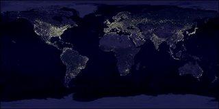 Vista desde satélite de la tierra.
