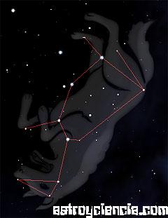 Figura de la constelación del Lobo
