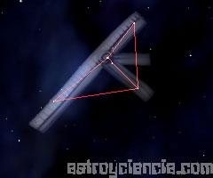 Figura de la constelación de la Escuadra