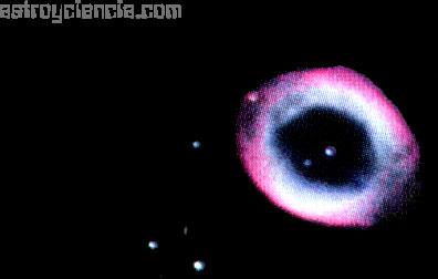 Una nebulosa apagada pero muy bien definida, tan grande como Júpiter y con el aspecto de un planeta desvaído