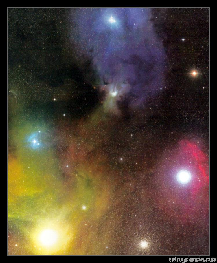 Antares y la nebulosa Rho Ofiuco