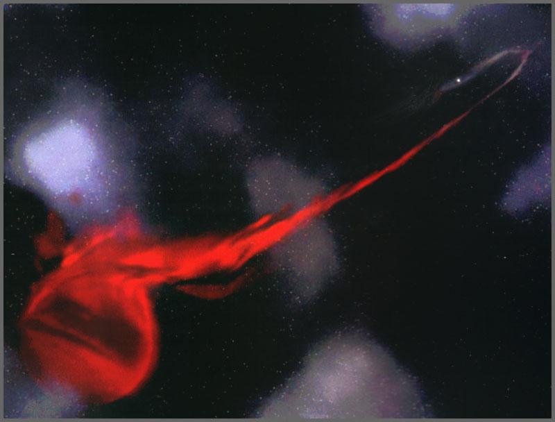 Un púlsar parásito engullendo a su estrella compañera