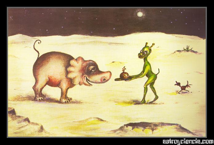 Navidad en un mundo alienígena
