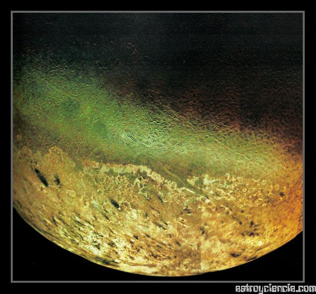 Vista de Tritón, Luna de Neptuno