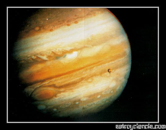 vista del planeta Júpiter