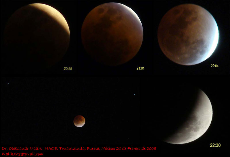 Fotografías del Eclipse de Alexander Malik a color