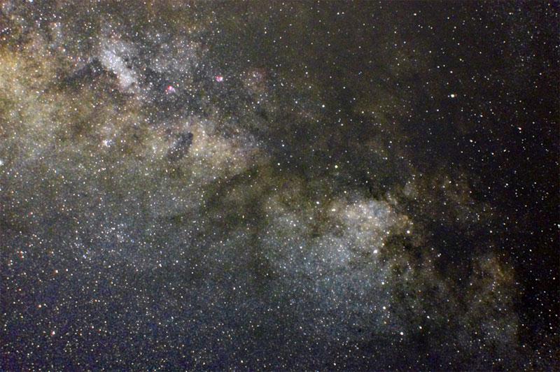 Vía Láctea desde la Tierra (donde hay mayor número de estrellas)