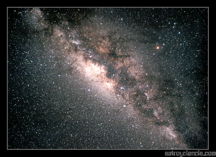 Vía Láctea vista desde el hemisferio sur