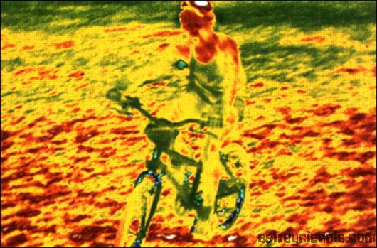 Imagen en infrarrojo para medir el calor