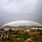 El arco iris y las coronas