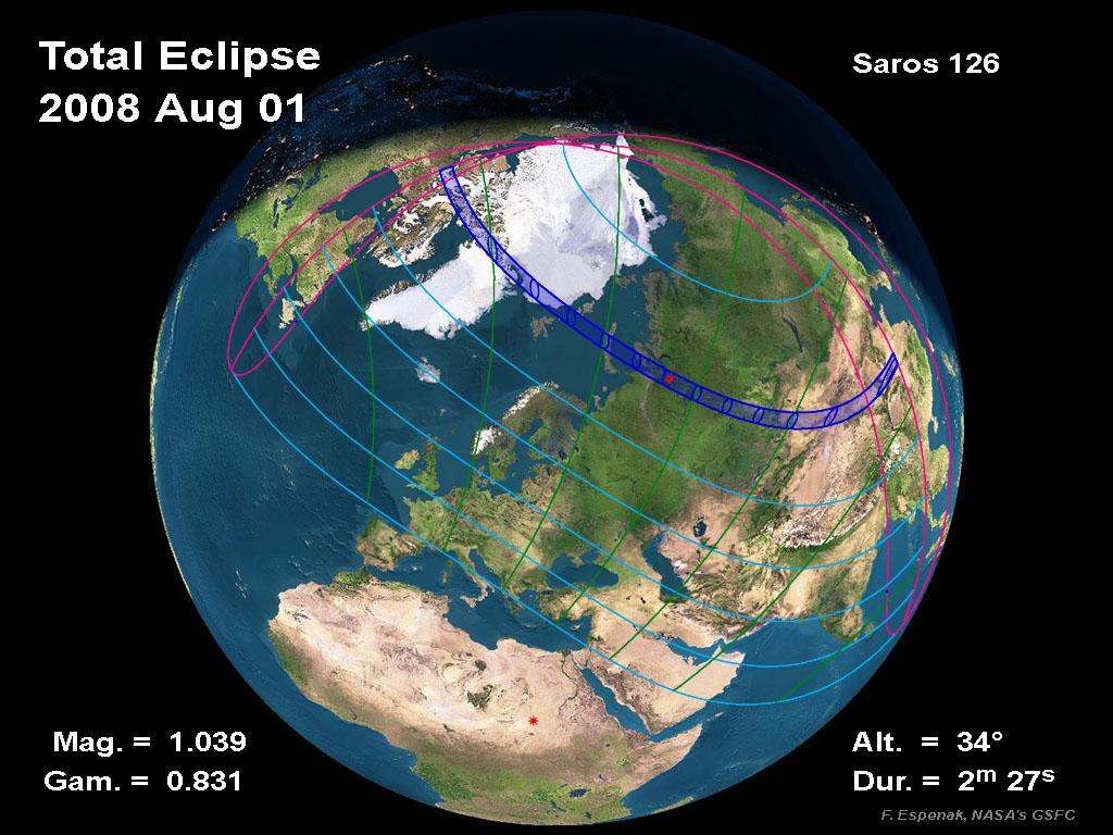 1 de Agosto: Eclipse Total de Sol