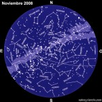 El cielo en noviembre de 2008