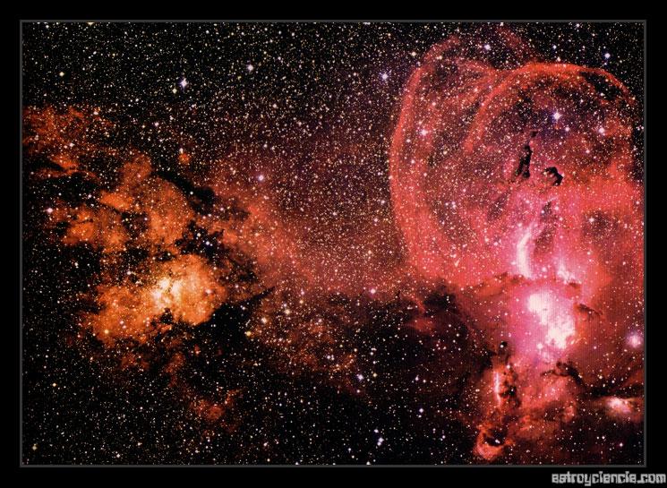 Nebulosas generadoras de estrellas (NGC 3603 y NGC 3576)