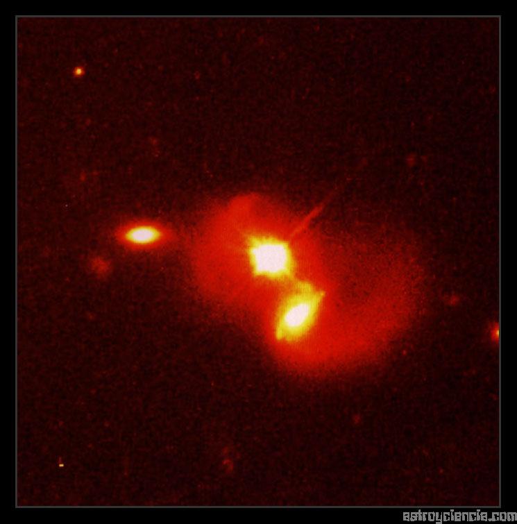Quásar y galaxia compañera