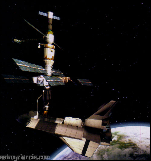 La Mir y el Atlantis