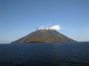 Volcán modelo Estromboliano