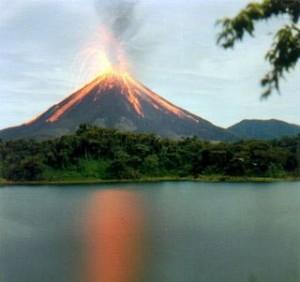 Volcán modelo Hawaiano