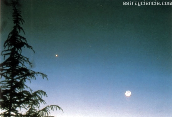 Conjunción Planetaria: Venus y la Luna