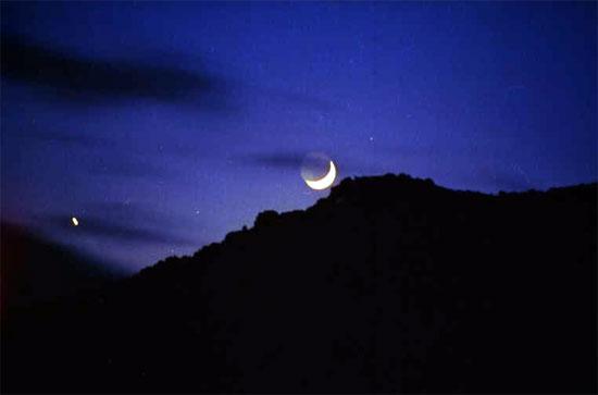 Conjunción planetaria: Luna y Júpiter
