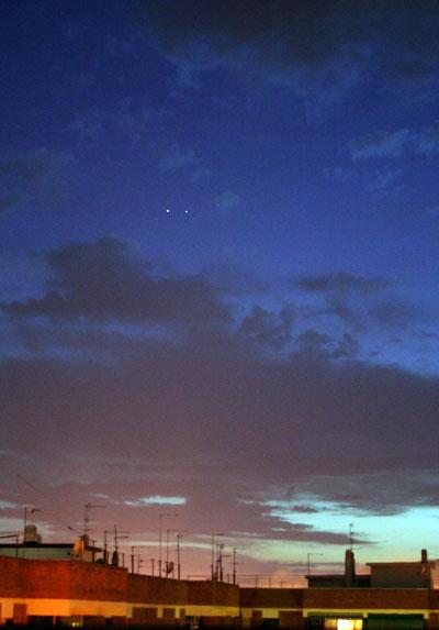 Conjunción Planetaria: Saturno y Marte