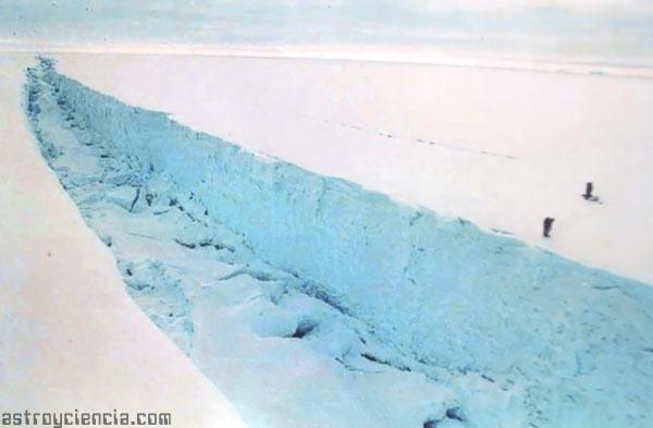 Descomposición del hielo a causa del Calentamiento Global