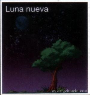 Fase de Luna nueva, se ve igual en los dos hemisferios