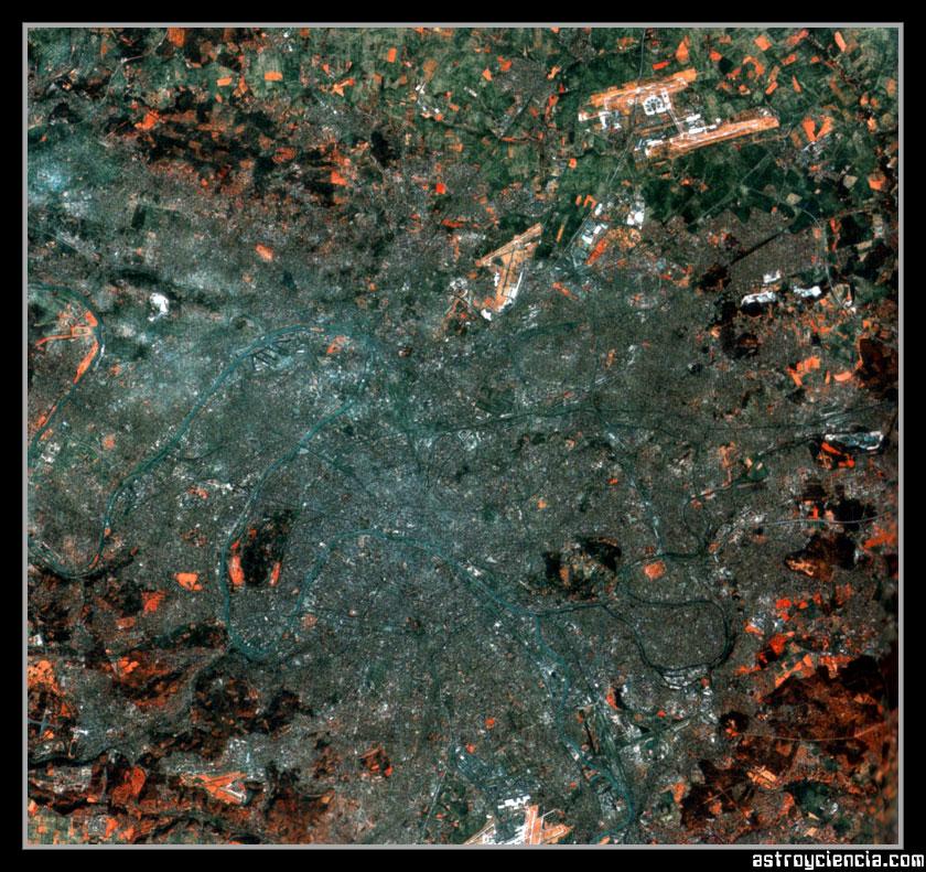 Vista aérea de París en Francia