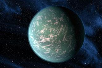 recreación del planeta Kepler-22b