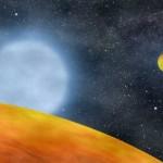 Dos planetas quemados por una estrella moribunda