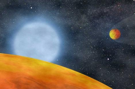 Dos planetas quemados por su estrella