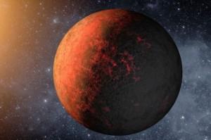 Recreación del planeta Kepler-20e