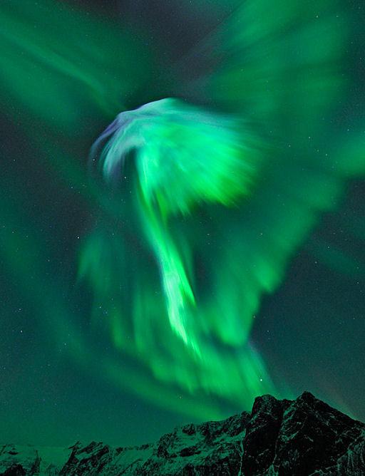 Imagen de una aurora tomada en Noruega