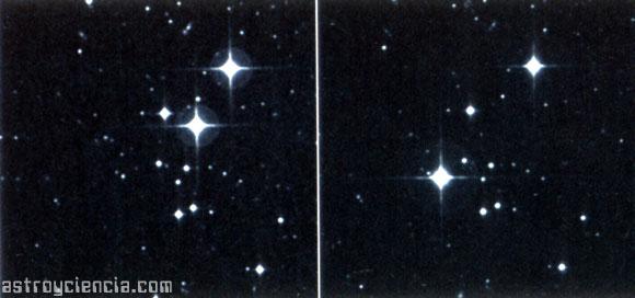 Estrellas desplazandose rápidamente