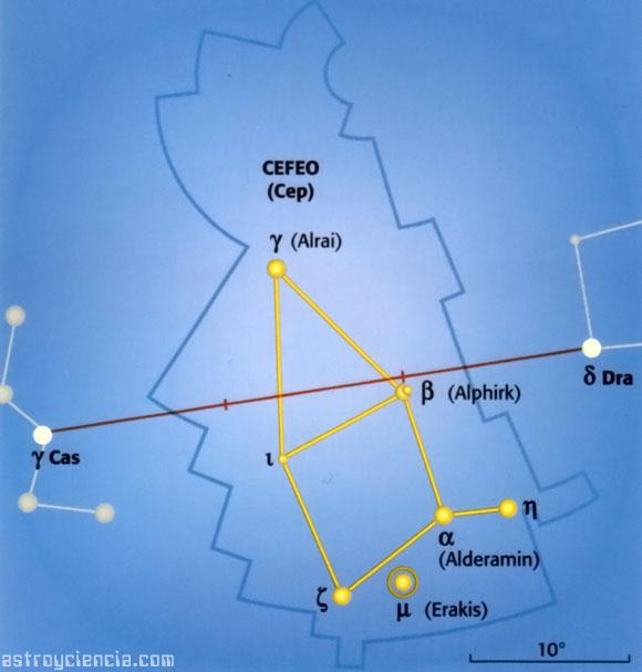 Localizar la constelación de Cefeo
