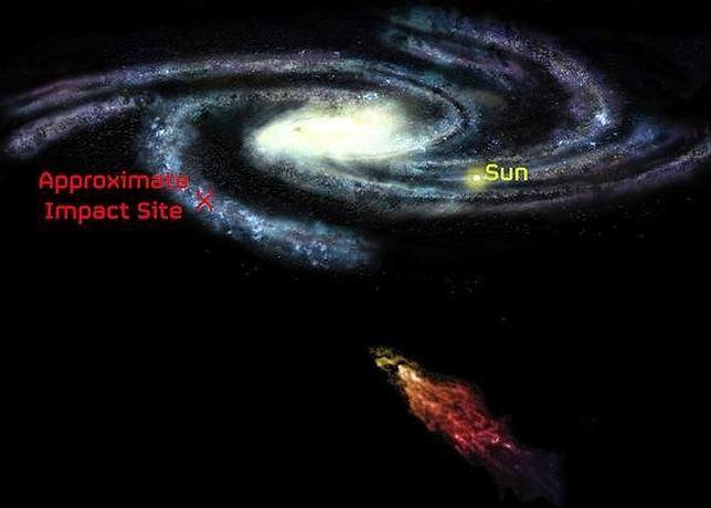 Nube de Smith apunto de colisionar con nuestra galaxia