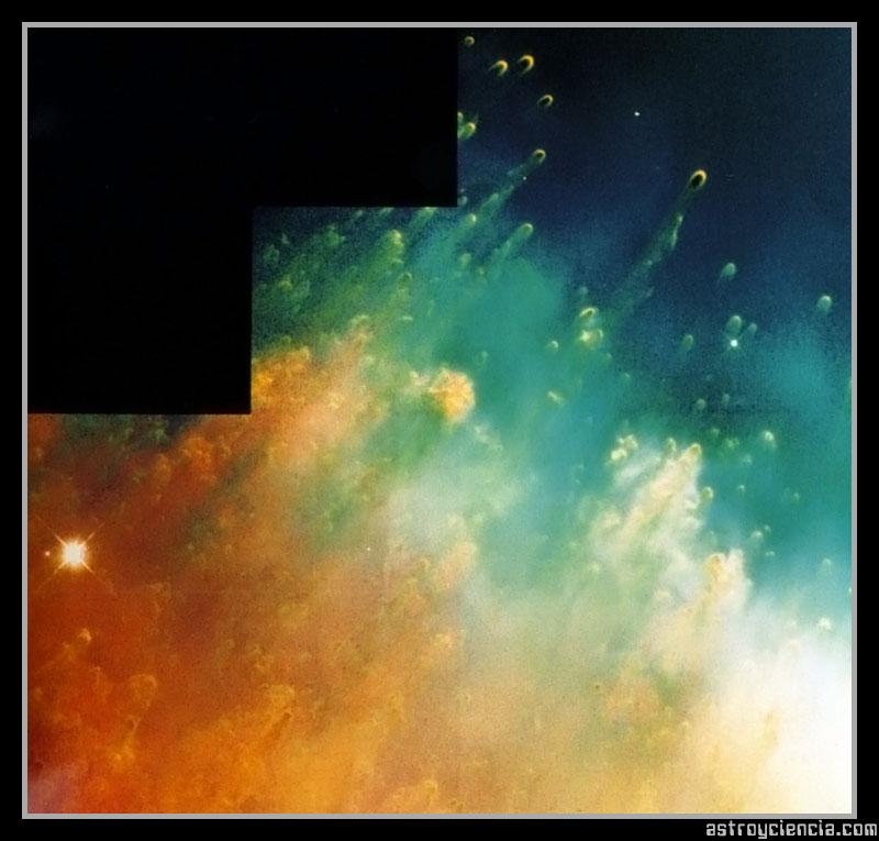 Nudos cometarios de la nebulosa de la Helice