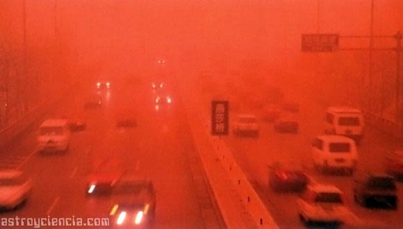 Tormenta de Arena en Pekín en 2001