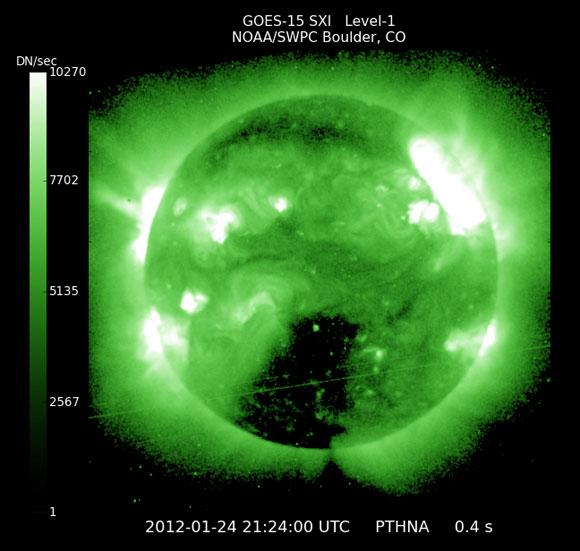 Tormenta Solar el 24 de Enero