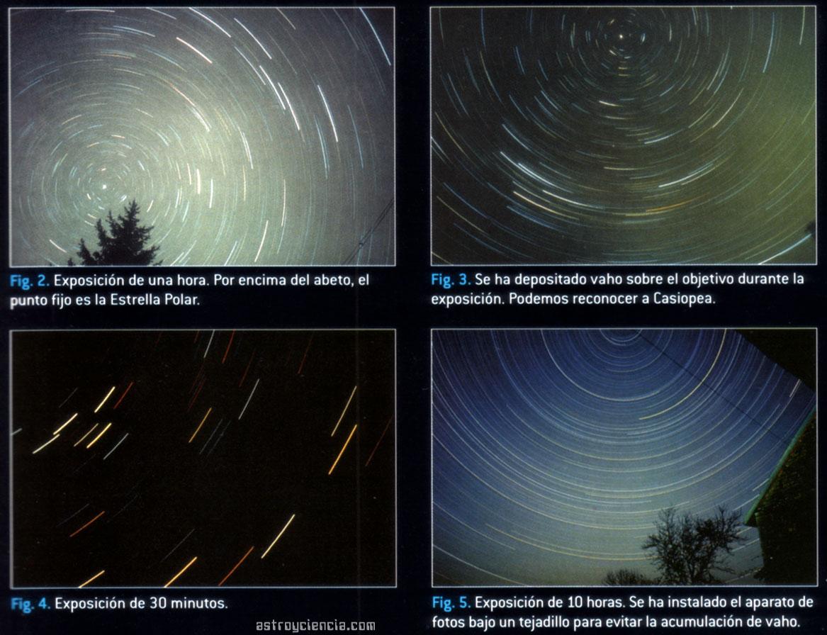 Fotografiando el cielo nocturno con diferentes tiempos de exposición