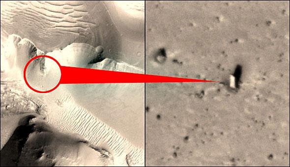 ¿Un monolito en Marte?