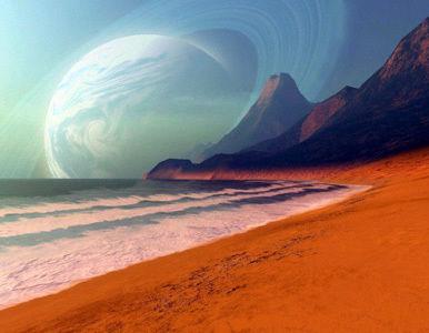 Recreación de un planeta similar a la Tierra