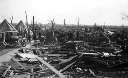Tornado de Missouri en 1925 - Casas destruidas
