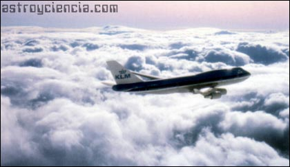 Gases expelidos por los aviones