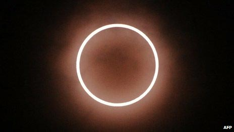 Imagen del eclipse del 20 de Mayo: el anillo de fuego