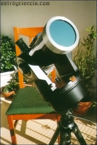 Observar el Sol con un filtro Thousand Oak