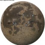 ¿En qué zonas de la Luna aterrizaron las naves Apolo?