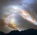 Choque entre la Vía Láctea y Andromeda