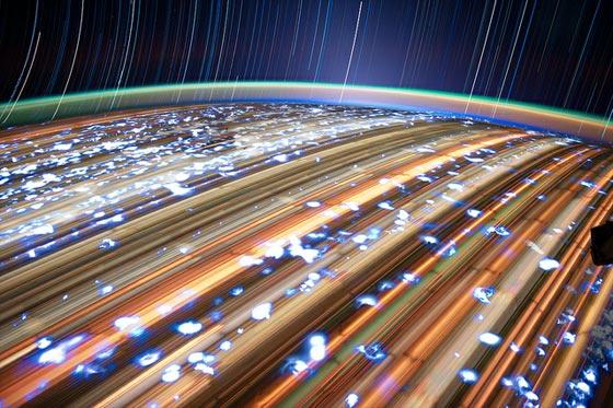 Increíbles imágenes Star Trails de Don Pettit desde la ISS