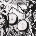 Representación artística de los movimientos planetarios